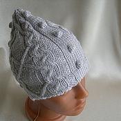 Работы для детей, ручной работы. Ярмарка Мастеров - ручная работа Вязаная шапка шлем с косами. Handmade.