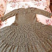 Одежда ручной работы. Ярмарка Мастеров - ручная работа Мохеровое вязаное платье с пайетками. Handmade.