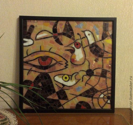 Абстракция ручной работы. Ярмарка Мастеров - ручная работа. Купить Мозаичная копия картины (фрагмент). Handmade. Копия, мозаичная картина