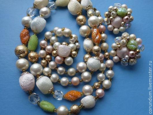 Винтажные украшения. Ярмарка Мастеров - ручная работа. Купить Винтажный комплект,винтажное ожерелье клипсы,Япония,винтаж 50-е г. Handmade.