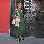 Одежда ручной работы. Ярмарка Мастеров - ручная работа Платье изо льна  Любава. Handmade.
