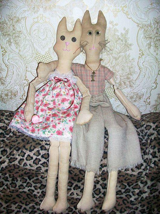 """Ароматизированные куклы ручной работы. Ярмарка Мастеров - ручная работа. Купить Кошки- """"Сладкая   парочка"""". Handmade. Авторская игрушка"""
