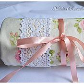 Работы для детей, ручной работы. Ярмарка Мастеров - ручная работа Плед Ванильные розочки, для новорожденных для девочки одеялко шебби. Handmade.