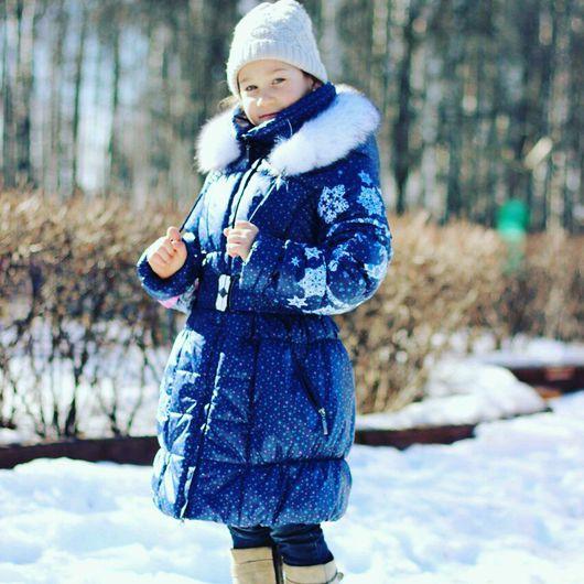 Одежда для девочек, ручной работы. Ярмарка Мастеров - ручная работа. Купить Пальто для девочки зимнее с капюшоном. Handmade.