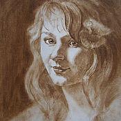 Картины и панно ручной работы. Ярмарка Мастеров - ручная работа Графический портрет по фото на заказ. Handmade.