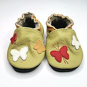 Работы для детей, handmade. Livemaster - original item Baby Shoes, Girls` Shoes, Newborn Booties,Butterflies Sippers. Handmade.