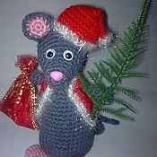 Мягкие игрушки ручной работы. Ярмарка Мастеров - ручная работа Мышь Вязанный  Новогодний крысенок. Handmade.
