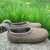 """Обувь ручной работы. Ярмарка Мастеров - ручная работа Тапочки валяные """"Орех"""". Handmade."""