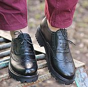 Обувь ручной работы handmade. Livemaster - original item Genuine leather shoes for women Oxford black. Handmade.
