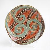 Посуда ручной работы. Ярмарка Мастеров - ручная работа Тарелка «Африканский мотив». Handmade.