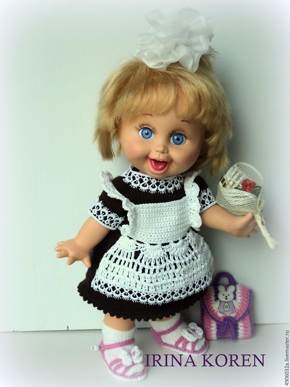 мк по вязанию школьной формы для куклы Galoob Baby Face купить в