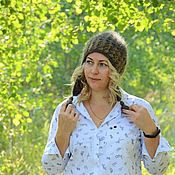 Аксессуары handmade. Livemaster - original item Hat: Openwork hat-down earflaps for women. Handmade.