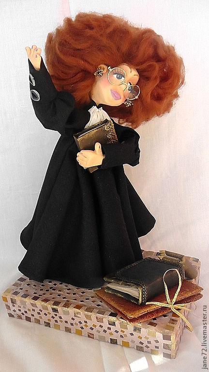 Коллекционные куклы ручной работы. Ярмарка Мастеров - ручная работа. Купить Cудья Лилу. Handmade. Черный, папье-маше