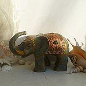 Куклы и игрушки ручной работы. Ярмарка Мастеров - ручная работа Индийский слоник из папье-маше. Handmade.