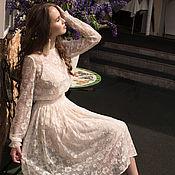 Одежда ручной работы. Ярмарка Мастеров - ручная работа Платье вечернее кружевное, свадебное платье, кружевное платье. Handmade.