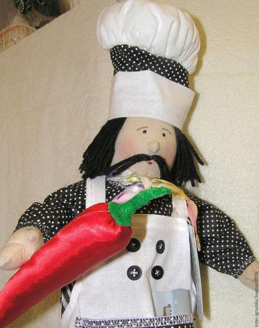 Кухня ручной работы. Ярмарка Мастеров - ручная работа. Купить Кукла пакетница Повар. Handmade. Белый, подарок женщине