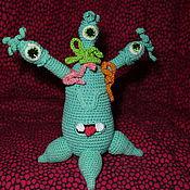 Мягкие игрушки ручной работы. Ярмарка Мастеров - ручная работа Трехголовый монстрик. Handmade.