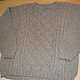 Кофты и свитера ручной работы. Серый пуловер с рельефным рисунком. Мария Сухорукова (suhma). Ярмарка Мастеров. Пуловер, жемчужный узор