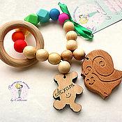 Куклы и игрушки handmade. Livemaster - original item teething toy nominal juniper-silicone raduga