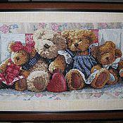 """Картины и панно ручной работы. Ярмарка Мастеров - ручная работа вышитая картина """"A Row of Love"""". Handmade."""