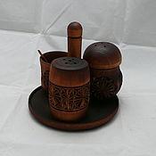 Для дома и интерьера ручной работы. Ярмарка Мастеров - ручная работа Набор для специй (соль,перец,горчица). Handmade.