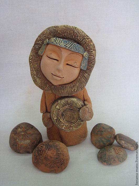 """Статуэтки ручной работы. Ярмарка Мастеров - ручная работа. Купить """" Моё северное солнце"""". Handmade. Керамика"""