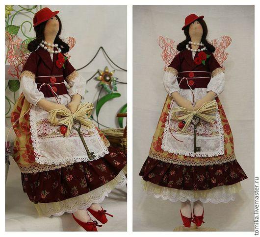 Куклы Тильды ручной работы. Ярмарка Мастеров - ручная работа. Купить Генриетта. Handmade. Бордовый, кукла ручной работы, хлопок