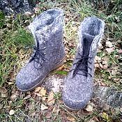 Обувь ручной работы. Ярмарка Мастеров - ручная работа Валяные ботинки,, В октябре``. Handmade.