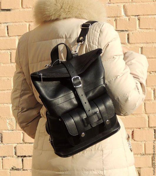 Сумка-рюкзак «Конти» это универсальный аксессуар — трансформирующийся по надобности из сумки в рюкзак и наоборот, так же изменяющий свой объем -  он без труда «подружится» с Вашим гардеробом!