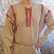 Одежда ручной работы. Ярмарка Мастеров - ручная работа мужская рубаха Добрый молодец. Handmade.