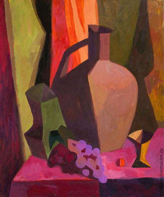 Натюрморт ручной работы. Ярмарка Мастеров - ручная работа. Купить Натюрморт с виноградом. Handmade. Живопись, картина, зеленый