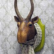 Дизайн и реклама ручной работы. Ярмарка Мастеров - ручная работа Голова сайгака на стену. Handmade.