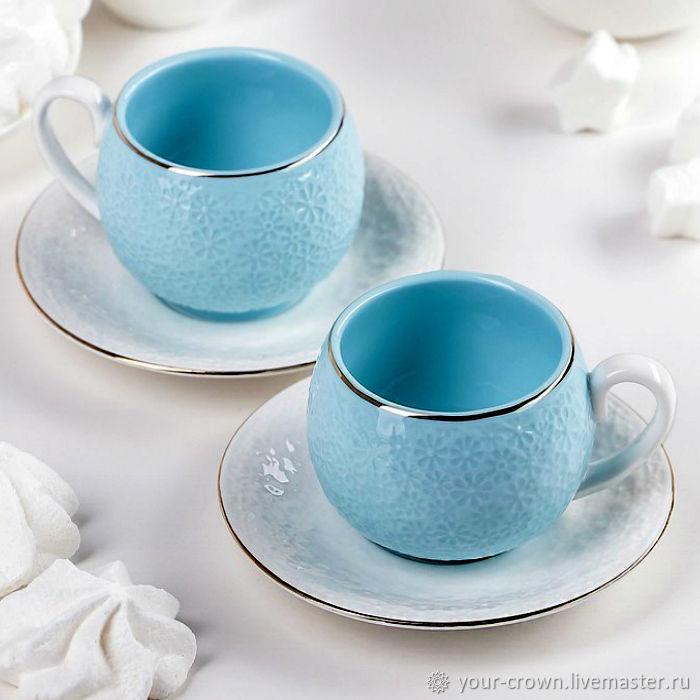 Coffee couple ' Daisies', Single Tea Sets, Rostov-on-Don,  Фото №1