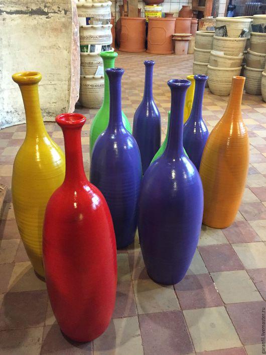 Вазы ручной работы. Ярмарка Мастеров - ручная работа. Купить Бутылки керамические. Handmade. Комбинированный, глиняная бутыль, бутылка в подарок