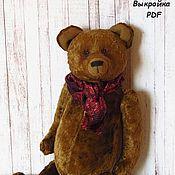 Материалы для творчества ручной работы. Ярмарка Мастеров - ручная работа Выкройка медведя Луи. Handmade.