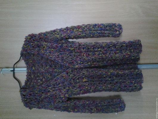 Кофты и свитера ручной работы. Ярмарка Мастеров - ручная работа. Купить Кардиган. Handmade. Комбинированный, шерсть 50% акрил 50%