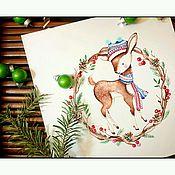 Дизайн и реклама ручной работы. Ярмарка Мастеров - ручная работа Акварельный логотип Вязание. Handmade.