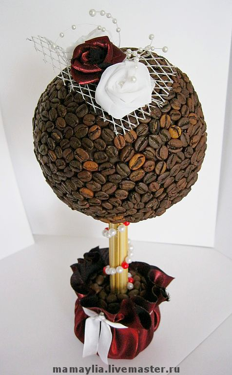 """Топиарии ручной работы. Ярмарка Мастеров - ручная работа. Купить Кофейное дерево """"Совершенство"""". Handmade. Топиарий, декоративное дерево"""