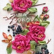 Картины и панно ручной работы. Ярмарка Мастеров - ручная работа Розы и бузина. Handmade.
