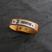 Украшения handmade. Livemaster - original item Juventus genuine leather bracelet. Handmade.