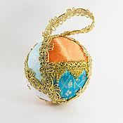 Подарки к праздникам ручной работы. Ярмарка Мастеров - ручная работа Елочный шар 10 см -  № 15-49. Handmade.