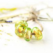 Украшения ручной работы. Ярмарка Мастеров - ручная работа Аравали - бусины лэмпворк для браслета в стиле пандора. Handmade.