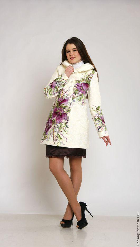 Верхняя одежда ручной работы. Ярмарка Мастеров - ручная работа. Купить Весеннее пальто Апрель. Handmade. Весеннее пальто