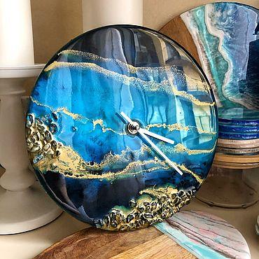 Для дома и интерьера ручной работы. Ярмарка Мастеров - ручная работа Часы: в технике Resin art. Handmade.