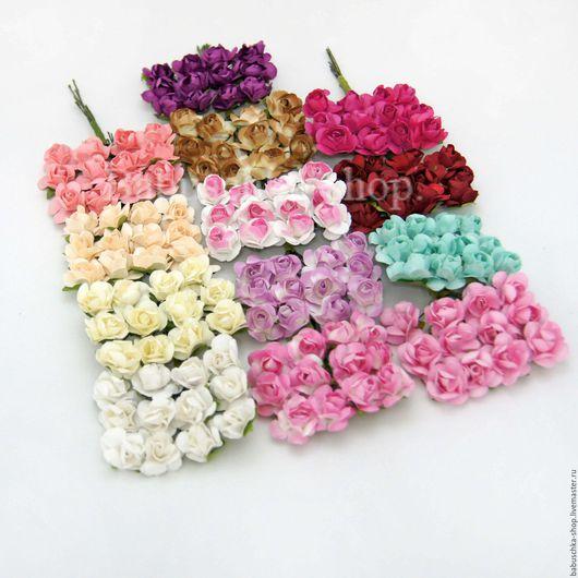 """Куклы и игрушки ручной работы. Ярмарка Мастеров - ручная работа. Купить Бумажные цветы """"Розы 1,5см"""" букет. Handmade."""