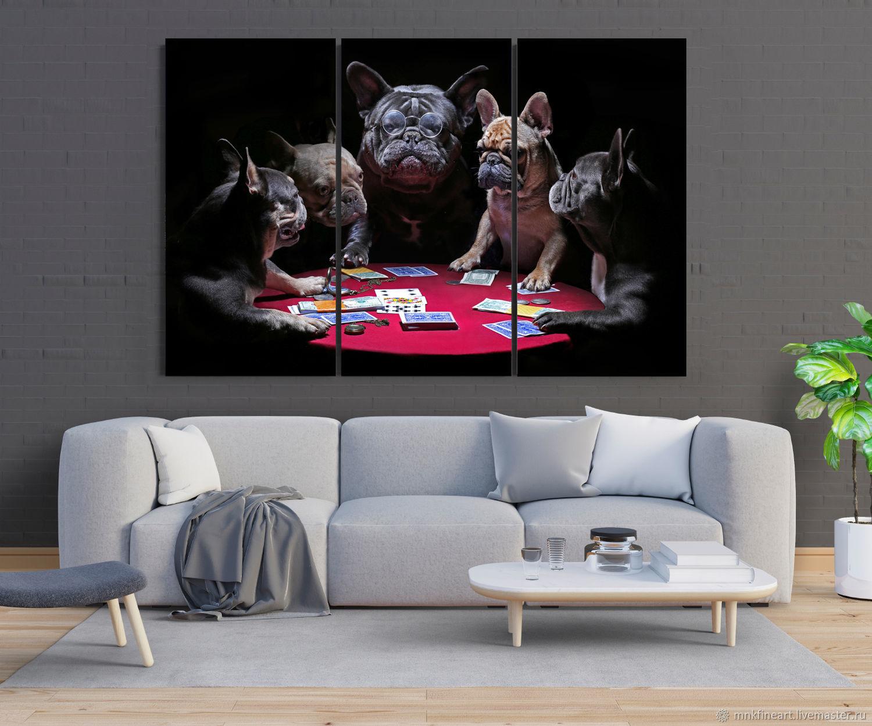 Фото холст: Игра в покер, Фотокартины, Ростов-на-Дону,  Фото №1
