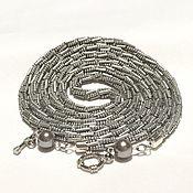 Украшения handmade. Livemaster - original item Lariat silver beaded. Handmade.