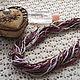 """Колье, бусы ручной работы. Ярмарка Мастеров - ручная работа. Купить Колье вязаное """"Винная вишня"""". Handmade. Колье"""