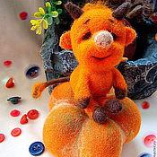 Куклы и игрушки ручной работы. Ярмарка Мастеров - ручная работа игрушка Чертенок на тыкве. Handmade.