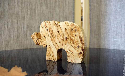 """Статуэтки ручной работы. Ярмарка Мастеров - ручная работа. Купить Фигурка интерьерная """"Слон на удачу"""" массив карельской березы. Handmade."""